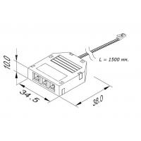 Разветвитель на 3 розетки - L815F, max 3A