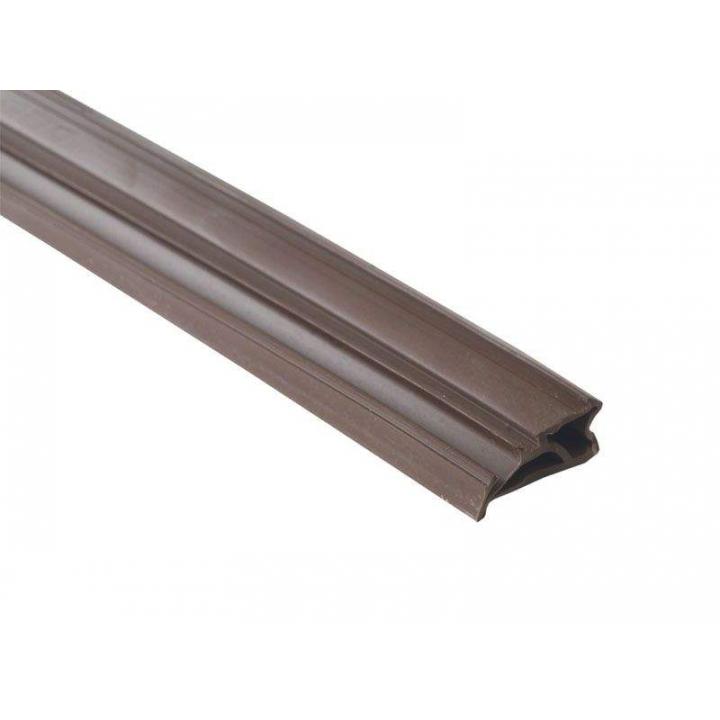 Уплотнитель для деревянных евроокон DEVENTER на фальц створки, ширина паза 4-5 мм, ТЭП, темно-коричневый RAL 8014, 20 м