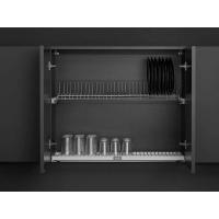 Комплект посудосушителя для тарелок/чашек в базу 800мм(для плиты 16мм), с алюминиевой рамой и пластиковым  поддоном, регулировка по глубине