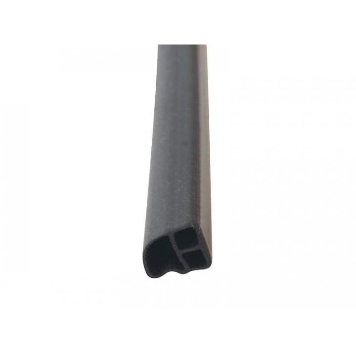 Уплотнитель контурный для стальных дверей DEVENTER, на клеевой основе, ТЭП, хлыст длиной 2180 мм, черный RAL 9004